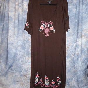 Karen Kane Brown Floral Dress 3X